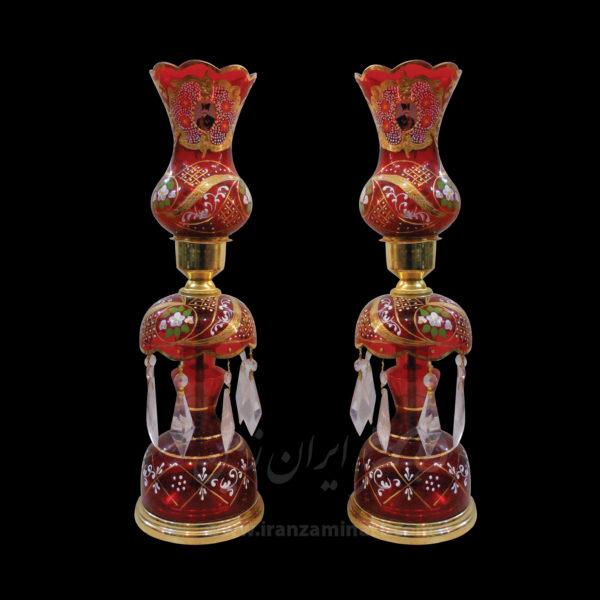 شمعدان شاه عباسی قرمز