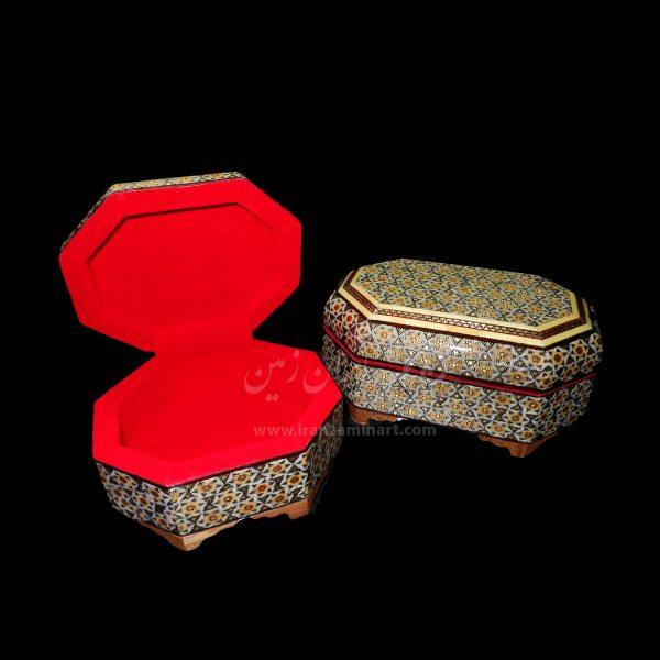 صندوقچه تخمه دار هشت ضلعی