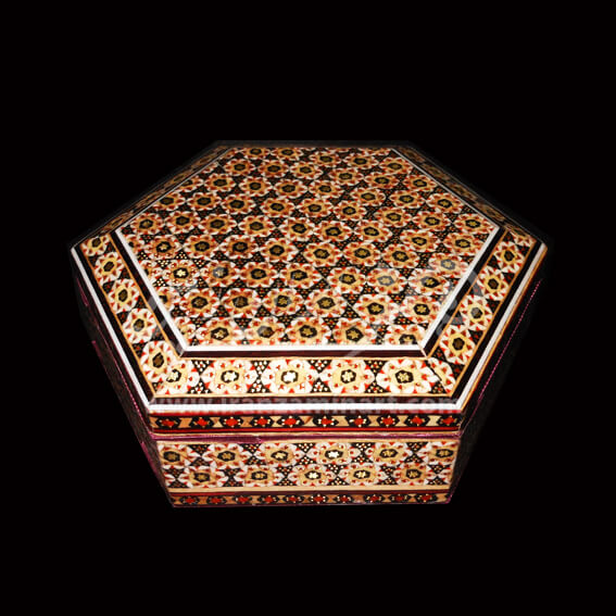 صندوقچه شش ضلعی خاتم