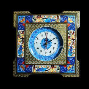 ساعت خاتم مربع پردیس صفحه مینا